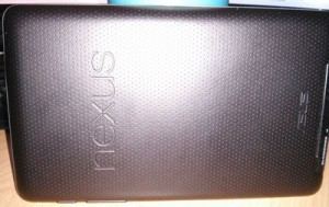 Back of the Nexus 7