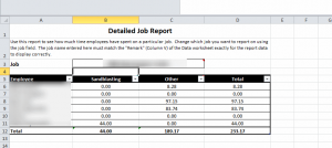 Excel Job Tracker - Detailed Job Report