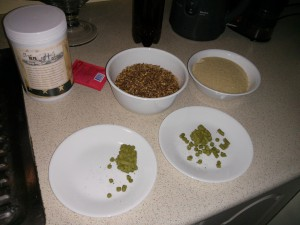 Simcoe hops pellets, Bairds Crystal Malt, Bairds LME, Brown Sugar